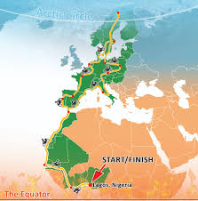 World Map Equator by Equator To Arctic Motorbike Adventure Out Of Nigeria