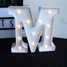 white light up letters 9inch white plastic led marquee letter light sign light light up