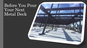 metal decking pouring concrete on a metal deck youtube
