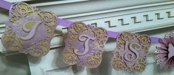 lavender baby shower decorations baby shower banner lavender gold baby shower decoration
