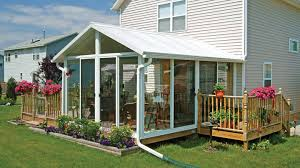 sunroom kits easyroom kit in white with a single slope roof and