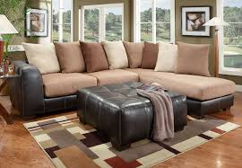 leather and microfiber sectional sofa the furniture warehouse beautiful home furnishings at affordable