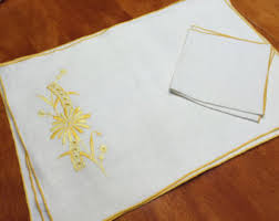 Shabby Chic Placemats by Yellow Placemat Etsy