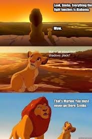 look simba everything the light touches is alabama wow that s