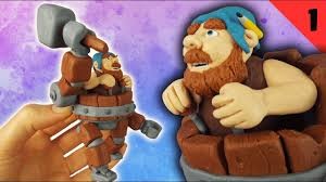 battle machine clash of clans polymer clay fimo tutorial part