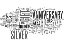 silver anniversary gifts best silver anniversary gift if youre word cloud stock