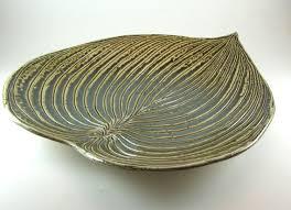 ceramic platter ceramic platters pottery hosta leaf serving platter tray