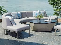 Curved Sectional Patio Furniture - del mar curved sectional love seat lexington home brands