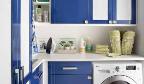 Laundry Room Cabinet Height Blue Lacquer Laundry Room Cabinets Contemporary Laundry Room