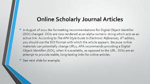 how do i write a paper in apa format writing a bibliography ppt video online download 9 online scholarly journal articles