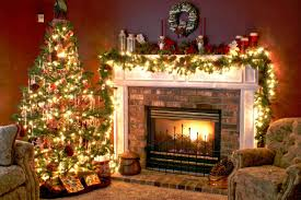 christmas tree and fireplace wallpapers pictures pics photos