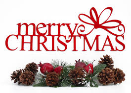 Metal Christmas Decorations Outdoor by Merry Christmas Metal Sign With Bow Red 15x5 5 Metal Wall