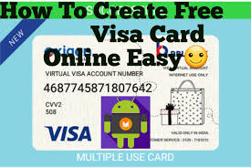 create a card online create real visa card android proof add