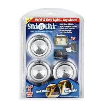 stick on lights for closets stick n click battery operated lights set of 3 bed bath beyond
