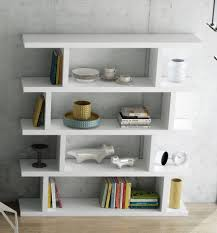 Large White Bookcase by White Wooden Stairs Books Case With Many Shelves Placed On The