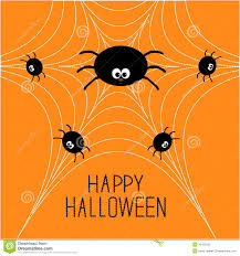 cute happy halloween pictures cute cartoon spider family on the web halloween card flat design