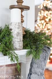 How To Decorate A Mantel For Christmas Winter Woodland Christmas Mantel Maison De Pax
