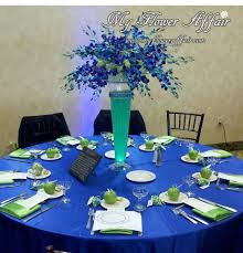 blue flower wedding centerpieces