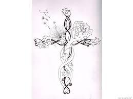 tag cross rose beads tattoo best tattoo design
