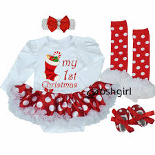 Newborn Christmas Clothes Baby Girls Clothing Set My First Christmas