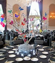 sweet 16 table centerpieces 10 butterfly theme ideas bat mitzvah shower sweet 16 party