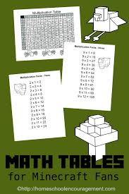fun ways to learn your multiplication tables free minecraft printable multiplication table and charts
