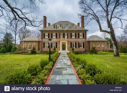 historic house in guilford baltimore maryland stock photo