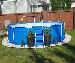 Backyard Above Ground Pools by Edging Around An Above Ground Pool Google Search Pool