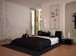 Asian Inspired Platform Beds - asian bedroom lighting dark brown gloss floating shelf black