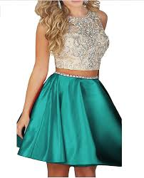 amazon com ivy beaded two pieces prom dresses stain short