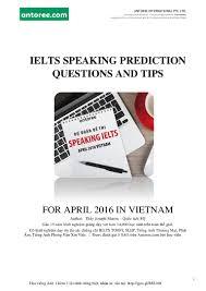 dự đoán đề thi speaking ielts tháng 4 2016