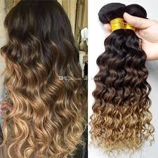 honey brown hair with blonde ombre 1b 4 27 honey blonde ombre hair deep curly brazilian hair bundles