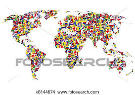 world map image drawing drawings of world map made of flags k8144874 search clip