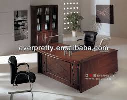 high quality office table high end office desk in wood veneer finished for ceo buy office