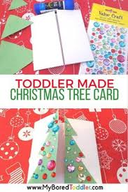 simple toddler made christmas cards christmas tree craft and xmas