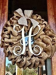 monogram wreath burlap vine wood monogram wreath personalized wreath