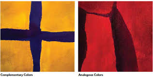 complementary paint colors complementary colors and analogous colors in abstract art paintings
