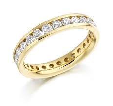gold eternity rings 4mm 18ct yellow gold brilliant cut channel set eternity ring