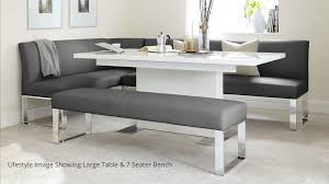 corner dining room furniture 5 seater right hand corner bench and extending dining table