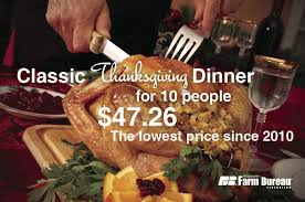 cost of thanksgiving dinner 5 per person local