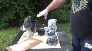 how to properly paint concrete statuary part 1 how to base coat