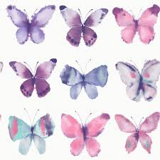 glitter wallpaper with butterflies girls wallpaper bedroom decor glitter unicorns hearts butterflies