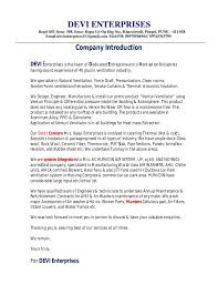 bunch ideas of introduction letter of company profile with