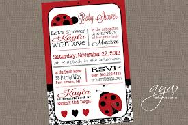 Shrimant Invitation Card Ladybug Baby Shower Invitation Marialonghi Com