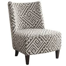 Grey Patterned Accent Chair Valentina Accent Chair In Grey White Accent Chairs Accent Seating