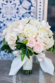 White Rose Bouquet A Romantic Alfresco Destination Wedding With A Soft Color Palette