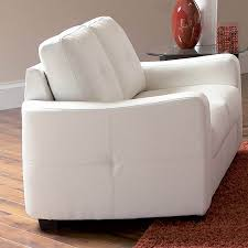 Bonded Leather Loveseat Shop Coaster Fine Furniture Jasmine White Bonded Leather