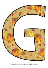 large free printable letters to spell out thanksgiving each has a