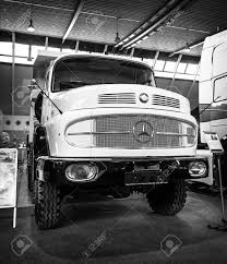 mercedes truck white stuttgart germany march 18 2016 heavy truck mercedes benz