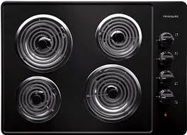 30 Electric Cooktops Frigidaire Ffec3005lb 30 Inch Electric Cooktop With 4 Coil Heating